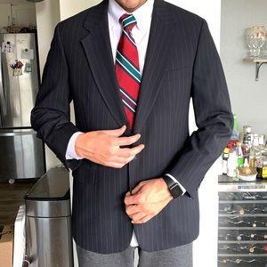 42L Brooks Brothers BrooksEase Wool Pinstripe